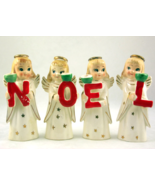 Vintage Commodore NOEL angel girls candle holde... - $48.00