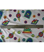 Poly Cotton Fabric Kids Clothing Decor Planes H... - $1.00