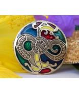 Vintage Miracle Enamel Brooch Pendant Celtic Se... - $24.95