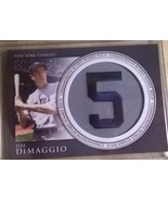 2012 TOPPS RETIRED NUMBER PATCH JOE DIMAGGIO.YA... - $2.99