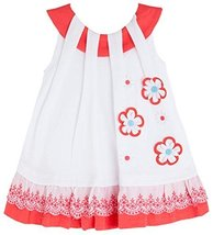 Baby Girls White Dimensional Daisy Pull Thru Neckline Knit Dress, Mayoral