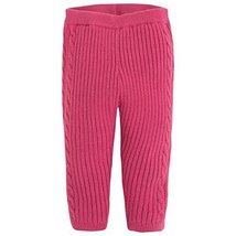 Baby Girls Strawberry-Red Cable Knit Legging Pants, Mayoral, Strawberry, 9M