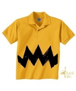 Large Kid Retro Charlie Yellow Zig Zag kids boy... - $14.99