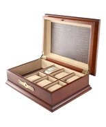 Classic Watch Display Box Antique Walnut Finish... - $92.22