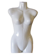 Woman Plastic Torso Front Mannequin with Hook B... - $12.82