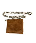 Leather Dress Wallet Brown Bifold Hip Chain Mad... - $32.99