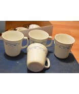 Corning Microwave Safe Cups (4) White with Smal... - $1.49