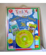 Teach Me More Spanish 2 CDs 2 Books  A Musical ... - $12.00