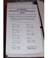 Schirmer's Orchestra Accompaniment Series Halle... - $0.99