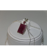6.47ct Deep Red Opaque Ruby Sterling Silver Pen... - $90.00