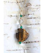 Judy Strobel Tigerseye Angelfish Pendant Necklace - $29.00