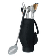 5 Piece Golf BBQ Tools in Black Golf Bag and Go... - $42.00