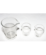 Set of 3 Glass Beakers 8 oz and 100 ml Pyrex Ph... - $19.99