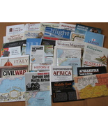 Map Lot National Geographic Political Physical ... - $33.63