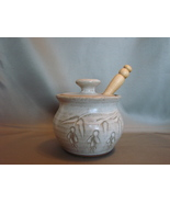 Sweet Tree Pottery Stoneware Studio Honey Pot, ... - $19.99