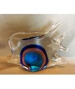 Hand Blown Art Glass Angel Fish Paperweight/ Di... - $7.99
