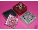 Buy Gift Boxes - Jeweled Gift Boxes Red Silver & Pink Great 4 Christmas