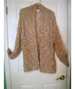 Coldwater Creek  Sequence Crochet Cardigan Swea... - $20.00