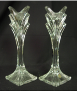 2 Lead Crystal 24% PbO Candle Candlestick Holde... - $14.00