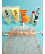 Clinique 7 Piece Set Bag, Happy Perfume, Lotion... - $20.78
