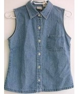 Gap Womens Sleevless Shirt Denim Blue Jean Vest... - $4.93