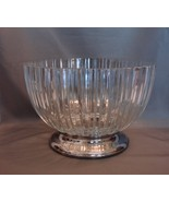 Godinger Heavy Fine Crystal Glass Bowl with Sil... - $30.99