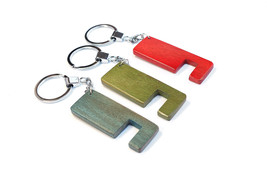 3 Pcs. Handmade Wood Keychain Iphone Android Ph... - $11.99