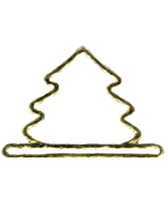 Brushed Gold Mini Tree metal bellpull 3.25
