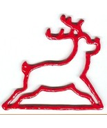 Red Reindeer christmas metal bellpull 4.5