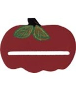 Wooden Red Apple bellpull 4.75