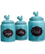 Kitchen Canister Set Storage Jars Countertop Co... - £54.94 GBP