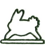 Green Bunny spring metal bellpull 4.5