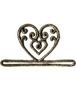 Antique Gold Filigree Heart metal bellpull 3.25... - $12.60