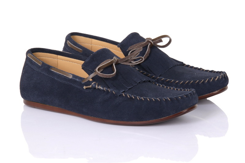 Handmade men navy blue suede leather loafer shoes, men loafer shoes, casual shoe - Casual