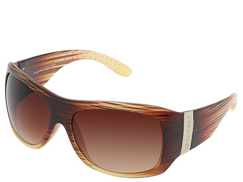 Baby Phat 2028 Brown Studded Logo Embossed Sunglasses
