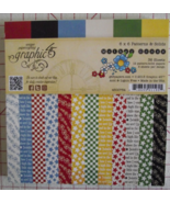 Graphic 45 Mother Goose paper pad 36 sheets 6x6... - $24.99