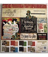 Graphic 45 Typography paper pad 24 DS sheets 12... - $49.99