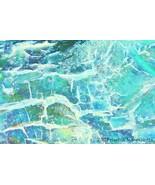 Aquaceous 5 Fine Art Photograph Flat Canvas 24 ... - $495.00