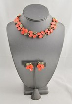 VINTAGE Jewelry LISNER DAY GLO ORANGE THERMOSET... - $85.00
