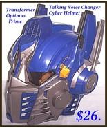 Transformer Optimus Prime Talking Cyber Helmet - $25.74