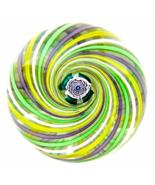 John Deacons Studio Glass Swirl Paperweight wit... - $275.00