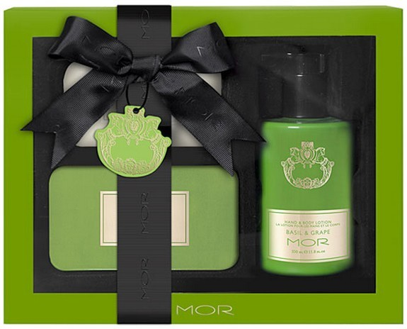 MOR Cosmetics Essentially Yours Basil And Grape Gift Set
