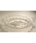 Vintage Small Pressed Glass Dish Oval Shape wit... - $30.00