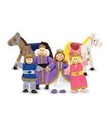 Wooden Melissa Doug Royal Family Doll Set Toys ... - $33.65