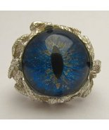 Handmade Sterling Silver Blue Gothic Steampunk ... - $140.00