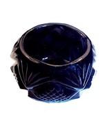 Black Glass Pineapple Diamond Fan Open Salt Cel... - $14.95