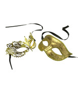 Gold His and Her Masquerade Masks -  Bestsellin... - $22.95