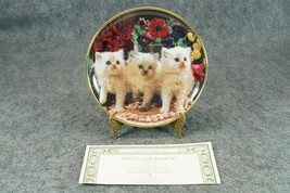 Franklin Mint Felines and Flowers by Larry Gran... - $14.00