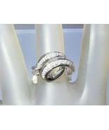 Italian Handmade Pave Diamond Swirl Band Ring W... - $649.00