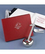 40th Wedding Anniversary Red Guest Book - $24.95